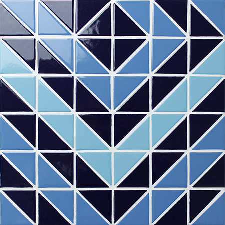 Santorini Puzzle Tr Sa Pz Triangle Mosaic Triangle