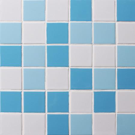 Mezcla azul cl sica bck005 azulejos de mosaico azulejos - Ceramica azul para banos ...