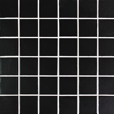 Clic Black Matte Bck101 Mosaic Tile Ceramic