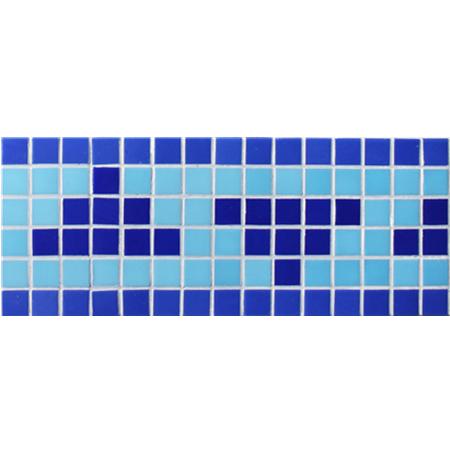 Border Blue Triangle Design Bgeb005, Mosiac Tiles, Glass Mosaic