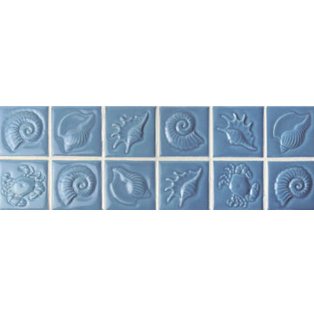 Blue Seashell Pattern BCKB702, Border tile, Ceramic border tile ...