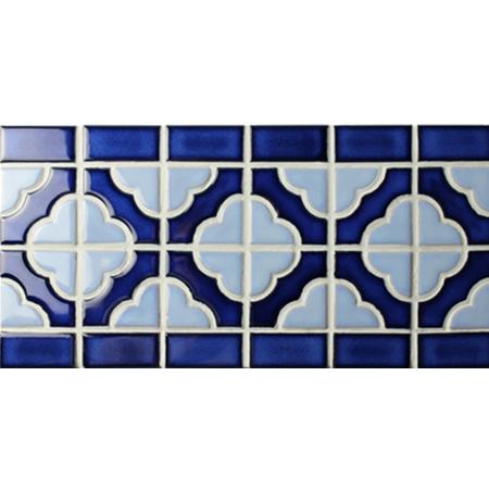 Border Tile Flower Pattern Bczb002 Mosaic Ceramic