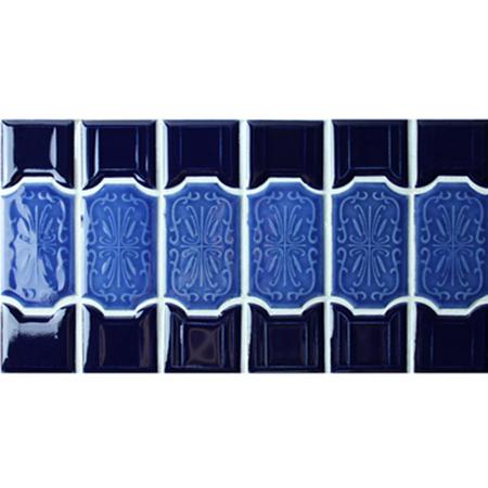 Melange Bleu Bordure Bczb004 Carrelage Mosaique Carrelage Mosaique Carrelage Mosaique Tuile Bleue