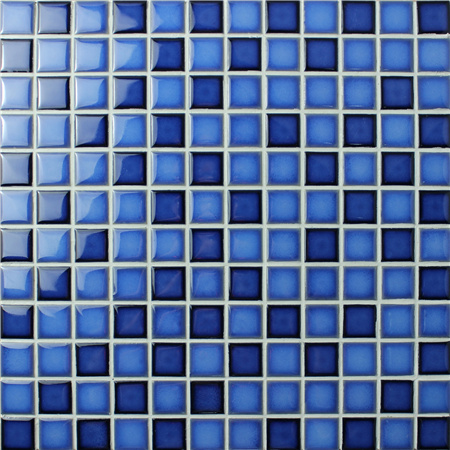 Mezcla fambe azul bch004 azulejos de mosaico mosaico de for Azulejo azul