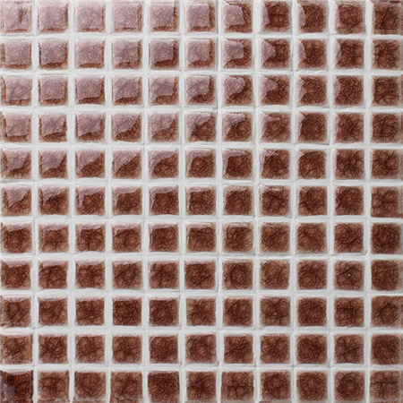 Frozen Brown Heavy Crackle BCI Mosaic Tile Ceramic Mosaic - Ceramic tiles mosaics for sale