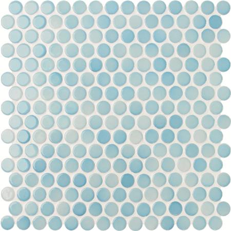 Penny Round Blue Bcz003 Mosaic Tiles Ceramic Tile Patterns