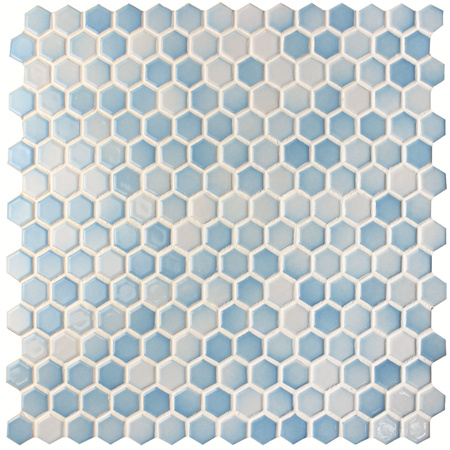 Hexagon Blue Mix Bcz007 Mosaic Tile Pool Tiles