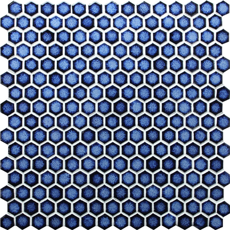 Hexagon Dark Blue Bcz607 Mosaic Tile Pool Tile Blue