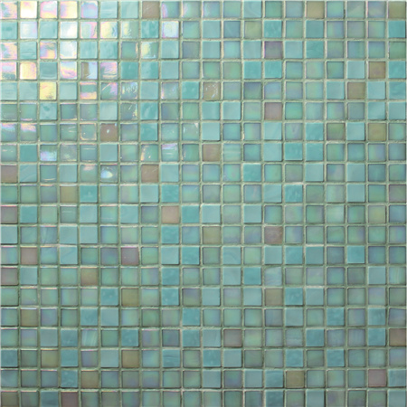 Jade Iridescent Green Bgc014 Mosaic Tile Glass Mosaic