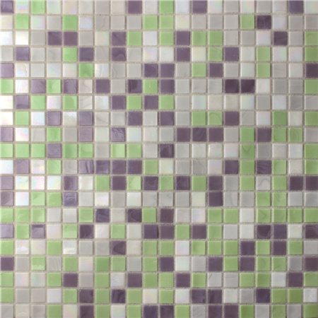 Square Purple Mix Green Bgc020 Pool Tile Pool Mosaic