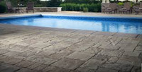 Decorate Semi Inground Pool with Wraparound Deck-slip resistant porcelain tiles, swimming pool coping, deck building