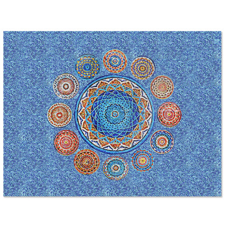 Mandalas KZO040MY, pool tile art, mosaic pool art, swimming pool ...