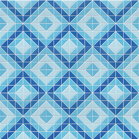 Santorini Square Tr Sa Sq Triangle Mosaic Triangle