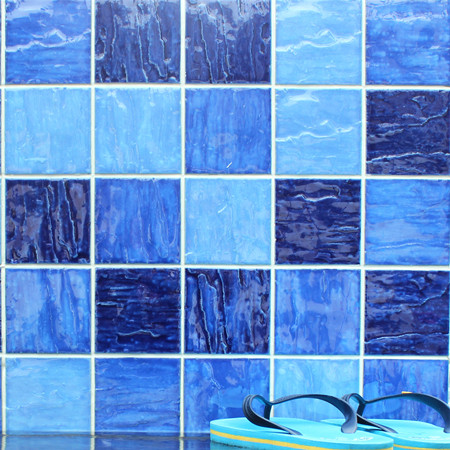 Wave Mixed Blue Bcp003 Mosaic Tile Ceramic Mosaic Blue