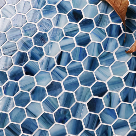 Hex Bgz030 Hexagon Mosaic Hexagon Tile Swimming Pool