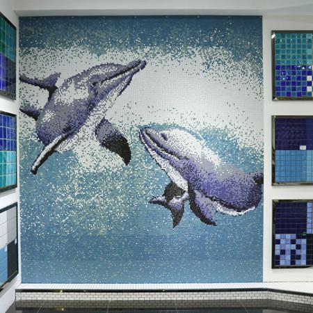 Pool Art Dolphin Bca002 Mosaic Tile Pool Art Mosaic