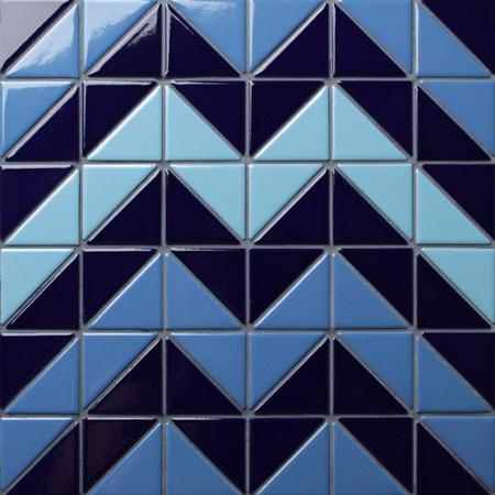 Santorini Chevron Tr Sa Cv Triangle Mosaic Triangle