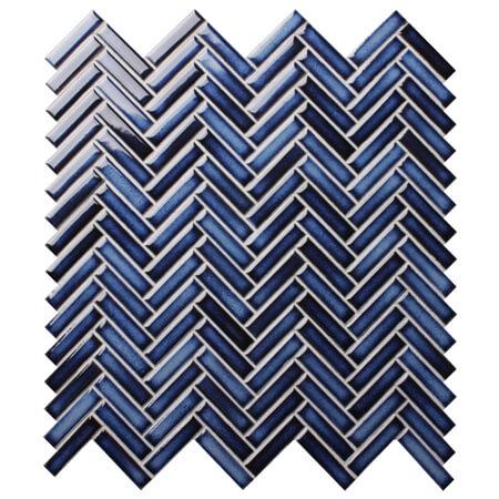 Strip Dark Blue Bcz619a Herringbone Mosaic Herringbone