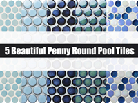 5 Beautiful Penny Round Pool Tiles-Penny round pool tile, Penny round mosaic, Pool tile mosaics wholesale