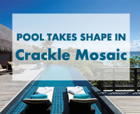 An Amazing Resort Hotel Swimming Pool Takes Shape in Crackle Mosaics-Crackle mosaics, Resort swimming pool tiles, Hotel swimming pool tiles