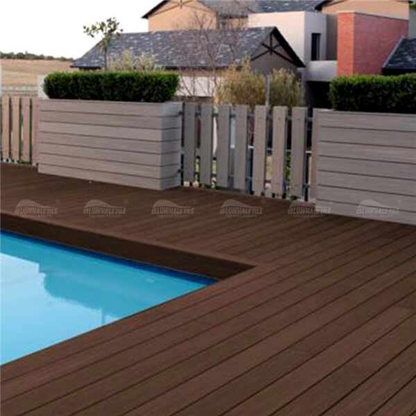 Wood Plastic Composite Wpc904l 2 Pool Deck Wood Pool Deck With Pavers Pool Paver Ideas Wood Plastic Composite Material Bluwhale Tile