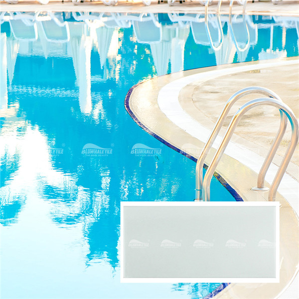 White Tile BCZB202,Pool tile, White pool tiles, Pool area tiles, Outdoor tiles for pool area