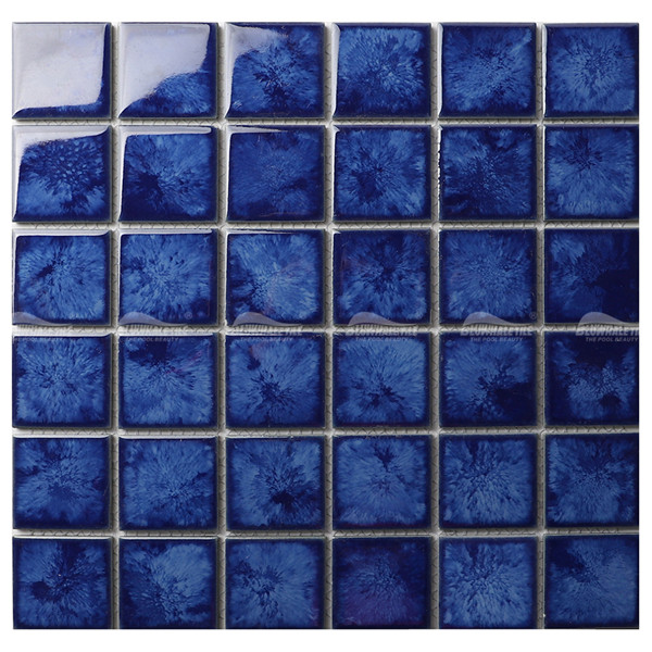 Crystal Glazed Porcelain KOA2615,pool mosaics for sale, 2x2 blue pool tile, mosaic tiles for swimming pool price