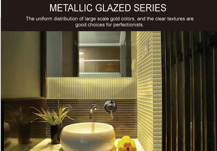 Metallic Glazed Series Introducing Our Metallic Mosaic Tiles