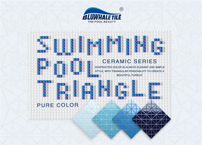 Pure blue color triangle mosaic pool tiles collection.jpg