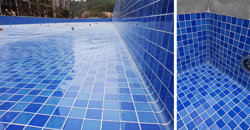 bottom swimming pool tiles at stock factory price