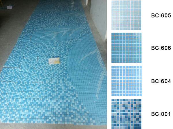 Wholesale Price Mosaic Pool Tile With Blue Tones