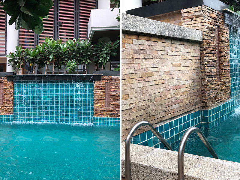 Natural Stone As Pool Landscape