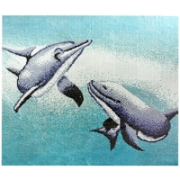 Pool Art Dolphin BCA002-Pool art mosaic, Fish mosaic designs, Dolphin mosaic art, Dolphin mosaic design