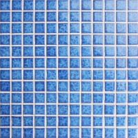 Blossom Blue BCH610-Mosaic tile, Ceramic mosaic, Glossy ceramic mosaic tile, Swimming pool tile for sale