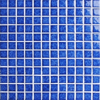 Blossom Blue BCH611-Mosaic tiles, Ceramic mosaic for pool, Square Pool tiles, Crystal ceramic mosaic tiles