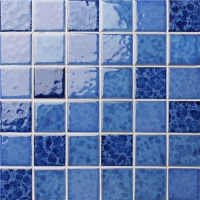 Blossom Blue BCK009-Mosaic tile, Ceramic mosaic, Pool tile mosaics, Crystal Glazed Blue Swimmiing pool tile