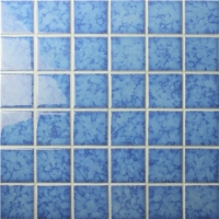 Blossom Blue BCK619-Mosaic tiles, Ceramic mosaic, Crystal mosaic for bathroom