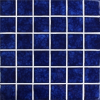 Blossom Dark Blue BCK637-Mosaic tiles, Ceramic mosaic, Dark blue swimming pool tiles