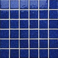 Blossom Dark Blue BCK638-Mosaic tiles, Ceramic mosaic, Dark blue pool tiles