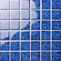 Blossom Dark Blue BCK642-Pool tiles, Ceramic mosaic, Blue pool mosaic tiles