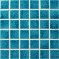 Frozen Blue Heavy Crackle BCK648-Pool Mosaic, Ceramic mosaic tile, Porcelain mosaic for swimming pool