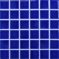 Frozen Blue Heavy Crackle BCK653-Pool tiles, Ceramic mosaic, Mosaic pool walls