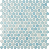 Penny Round Blue BCZ003-Mosaic tiles, Ceramic mosaic, Round mosaic tile patterns