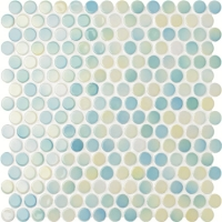 Penny Round Blue Blend BCZ002-Mosaic tiles, Ceramic mosaic tiles, Penny round mosaic suppliers