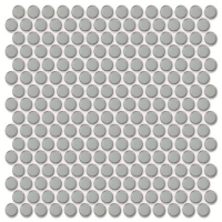 Penny Round Light Blue BCZ702-Pool tile, Pool mosaic, Ceramic mosaic, Round mosaic tile
