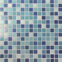 Chromatic Blue Mix BGE004-Pool mosaic, Glass mosaic tile, Glass mosaic patterns for swimming pool