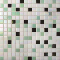 Chromatic Greed Mixed BGE007-Pool mosaic tile, Glass mosaic tile, Glass mosaic tile 20mm