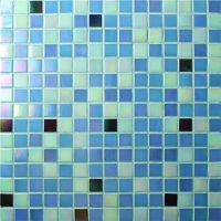 Chromatic Blue Mix BGE010-Pool tile, Glass mosaic, Glass mosaic pool tile