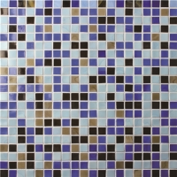 Square Color Mixed Pattern BGC023-Pool tile, Pool mosaic, Glass mosaic, Glass mosaic tile floor