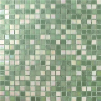 Square Green Mixed BGC027-Pool tile, Pool mosaic, Glass mosaic, Hot melt glass mosaic tile